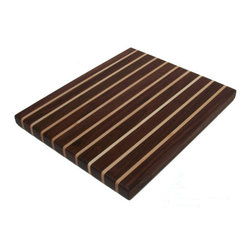 Walnut Pinstripe Cutting Board by Scott Blocks - If a cutting board could take on the persona of a GQ model wearing an Armani pinstripe suit, I'm pretty sure this would be it. Hello, handsome!