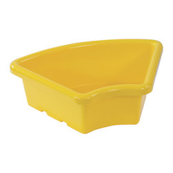 Ecr4kids - Ecr4Kids Preschool Organizer Fan Shaped Tray Without Lid Yellow 20 Pack - Replacement Bin for use with storage units and Sand and Water Play Centers.Replacement polypropylene basin for modular Sand and Water Play Centers, Ellipse Storage Centers and other laminate storage centers.Note Colors may vary - may change without notice. Also available with clear lid (model ELR-0805-XX), sold separately To avoid attraction by animals or insects, do not leave water standing after use.
