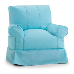 Comfort Research - Big Joe Lux Babette Capri Arm Chair - Sometimes in life, great things come with not so great costs. For example, the familiar comfort of a traditional framed chair comes with having to justify the price tag to yourself, then figure out how to haul a heavy piece of furniture home. Well, do yourself a favor  and meet the Babette Arm Chair. It has all the curves, comfort and style of a traditional framed chair, but at a fraction of the weight and cost. And thanks to the UltimaX Beans, durable Surf OD Fabric and a rainbow of color options, you_ll look as good as you feel when sitting  on a Babette! Filled with UltimaX Beans that conform to you.  Double stitched and double zippers. Spot clean. Please note this item requires an additional shipping timeline of 10-14 days.