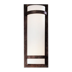 Minka Lavery - 341-357-PL 2-Light Wall Sconce in Iron Oxide with Etched Opal Glass - Features: