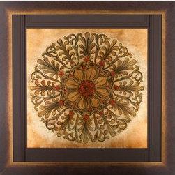 Paragon Decor - Golden Medallion Artwork - Exclusive Hand Painted on Gold Leaf
