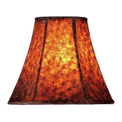 "Lite Source - Brown Ostrich Faux Bell Shade 3"" Top x 6"" - Take a beat with this exquisitely made Brown Ostrich Faux Bell Shade. Install it on a standard candelabra lamp in your bedroom, and watch as golden light shadows chase each other across the room. Simply beautiful, the lamp shade turns your ordinary lamp light into something magical."