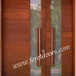 Modern contemporary entry doors - Modern design door with stainless steel pulls