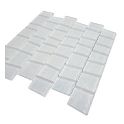 Neve Winterscape Trapezoid Glass Tile