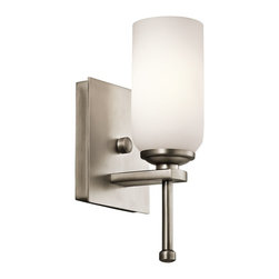 Kichler Lighting - Kichler Lighting Ladero Transitional Wall Sconce X-PA05924 - This understated 1 light wall sconce from the Ladero&trade: collection is a versatile accent piece. The Antique Pewter finish and Satin Etched Cased Opal Glass combine to form an elegant statement.