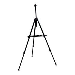 Martin Universal - Martin Universal Warwick All Purpose Artist Easel - 92-AE012 - Shop for Art Easels from Hayneedle.com! The Martin Warwick All Purpose Artist Easel is a large-capacity studio metal tripod easel with adjustable legs to accommodate sitting or table top use. It will hold a gallery-thick canvas with a height up to 55 inches from the lower position or up to 40 inches from the upper position of the lower canvas support. It features telescoping legs. This easel folds into its own carrying case. Maximum height is 74 inches. Carry case included. The overall dimensions are 33 x 26 x 73 inches at maximum height.
