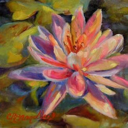 """Risa's Pond""  (Original) by Chris Brandley - The beautiful floating flower that emerges from the depths of a muddy swamp reminds me that we can triumph in difficult circumstances when we rely on Christ."