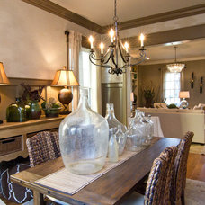Eclectic Dining Room by Leslie Lewis & Associates