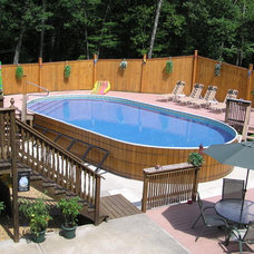 Contemporary  by Crestwood Pools, Inc.