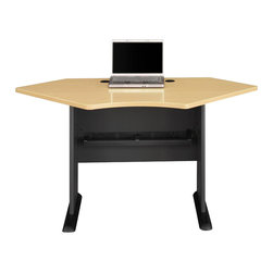 "BBF - Bush Series A 42""W Corner Desk in Beech/Slate - Bush - Computer Desks - WC14342 - Series A offers the flexibility to grow with you as your office of business grows."