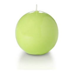 "Neo-Image Candlelight Ltd - Set of 6 - Yummi Gloss Sphere Ball Candles - 16 Colors, Celery Green, 2.8 - Our unscented 2.8"" High Gloss Sphere Candles are ideal when creating a beautiful candlelight arrangement for the home or wedding decor.  Available in 7 trendy High Gloss candle colors hand over dipped with white core to match and compliment your home decor or wedding centerpiece decoration."