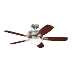 "DECORATIVE FANS - DECORATIVE FANS 300138AP Carlson 52"" Contemporary Ceiling Fan - DECORATIVE FANS 300138AP Carlson 52"" Contemporary Ceiling Fan"