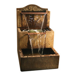 Uccelli Fountain - Tall, Country Oak - With the Uccelli Fountain, you get to create a home environment that is peaceful and pleasing to the eye. This wonderful attraction will make your visitors want to stay more often in your home to enjoy the beautiful scenery.