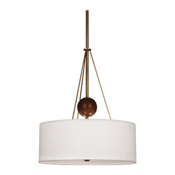 Robert Abbey - Robert Abbey Jonathan Adler Ojai Chandelier 783 - Aged Brass Finish with Walnut Finished Wood Accents