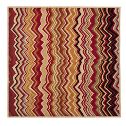 Safavieh - Contemporary Wyndham Square 7' Square Red - Multi Color Area Rug - The Wyndham area rug Collection offers an affordable assortment of Contemporary stylings. Wyndham features a blend of natural Red - Multi Color color. Hand Tufted of Wool the Wyndham Collection is an intriguing compliment to any decor.
