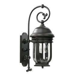 Quorum International - Quorum International 7182-3-95 Summit Old World Outdoor Wall Sconce - Quorum International 7182-3-95 Summit Black Outdoor Wall Sconce