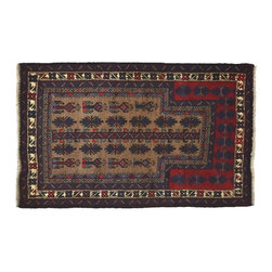 Old Persian Afghan Baluch Rug, 3'X5' Hand Knotted 100% Wool Oriental Rug SH8374 - This collections consists of well known classical southwestern designs like Kazaks, Serapis, Herizs, Mamluks, Kilims, and Bokaras. These tribal motifs are very popular down in the South and especially out west.