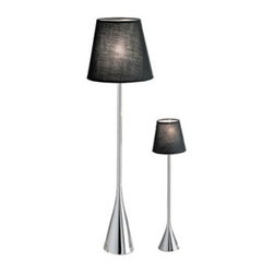 Eliott Table Lamp - With its conical metal base and the Clark Table Lamp adds distinctive style and illumination. This modern table lamp features a polished chrome conical base crowned with a wire metal shade that comes in your choice of color. It requires one G4 bulb (not included). About Whiteline:With a product line that includes prime leather sofas, comfortable beds, and elegant dining room furniture, Whiteline delivers modern and contemporary styles along with cozy comfort. Whiteline has 15 years of experience building furniture, along with a worldwide network of skilled manufacturers to help them give you the best value for your money. And their huge collection of designs is sure to have something to suit your contemporary tastes.