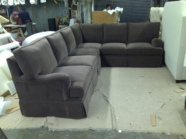 Traditional Sectional Sofas by Monarch Sofas
