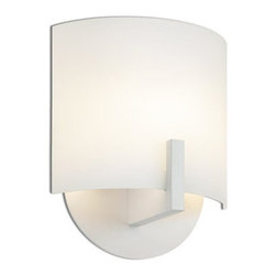 """Sonneman - Sonneman 1728 Single Light Xenon 8"""" Up Lighting Wall Sconce with Curved Shade fr - Contemporary / Modern Single Light Xenon 8"""" Up Lighting Wall Sconce with Curved Shade from the Scudo CollectionScudo Single Light Up Lighting 8"""" Wall Sconce.Features:"""