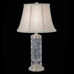 "Waterford Crystal - Waterford Crystal Grafix Table Lamp 1097903000 - Waterford Grafix Table Lamp  -  This stunning Grafix 30.5"" Table Lamp brings radiance to any desk or bedside table. Silva Lunas accents complement the intricate detailing of the Grafix pattern's signature cuts, while the elegant shade beautifully diffuses light.  -  Don't Buy From An Unauthorized Dealer  -  Genuine Waterford Crystal  -  Size: 30.5""  -  Fully Authorized U.S. Waterford Crystal Dealer  -  Brand New In The Original Waterford Crystal Box  -  Each Piece Is Checked 4 Times To Ensure It Arrives In Perfect Condition  -  Stamped With The Waterford Seahorse Symbol Of Excellence  -  Waterford Crystal Table Lamps Collection  -  Waterford Crystal UPC Number: 91571216679"