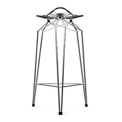 Diamond Barstool by Kubikoff - Kubikoff's Diamond Collection is pure design brilliance from top to bottom. That brilliant look is also visible in the Diamond backless bar stool, making it gorgeous and totally irresistible. See for yourself.