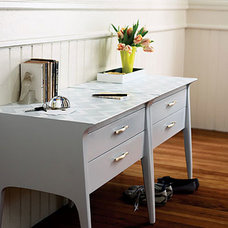 After: hallway console - Homemade Home Decorations from Salvage - Sunset