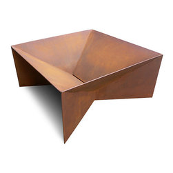 Geometric Fire Pit - I am head over heels for this rocking geometric fire pit; it's the most elegant fire pit ever. You can also get a grill and/or cover to vamp up its practicality. Five-star s'mores anyone?