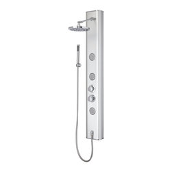 Parada Thermostatic Shower Panel with Hand Shower and Three Body Jets - Bring the spa experience directly into your home with the Parada Thermostatic Shower Panel.