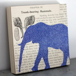 Original Elephant Collage by Fiddleheads for Fiona