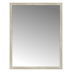 """Posters 2 Prints, LLC - 42"""" x 53"""" Libretto Antique Silver Custom Framed Mirror - 42"""" x 53"""" Custom Framed Mirror made by Posters 2 Prints. Standard glass with unrivaled selection of crafted mirror frames.  Protected with category II safety backing to keep glass fragments together should the mirror be accidentally broken.  Safe arrival guaranteed.  Made in the United States of America"""