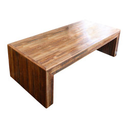 Doorman Designs - Jackson Table Modern Coffee Table made from Reclaimed Wood and New Orleans Homes - Made to order-The Jackson table, a blending of modern clean lines with a rustic feel. This coffee table is constructed with reclaimed wood from old New Orleans homes.