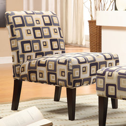 Tribecca Home - TRIBECCA HOME Decor Cube Print Accent Lounge Chair - Add a contemporary style to your family room or sitting room decor with this cube print accent lounge chair. The block pattern creates an attractive visual,while the cushioned seat and back provide luxurious relaxation to your home.