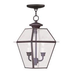 Livex Lighting - Livex Lighting 2285-07 Outdoor Chain Hang - Glass Type/Shade Type: Seeded Glass