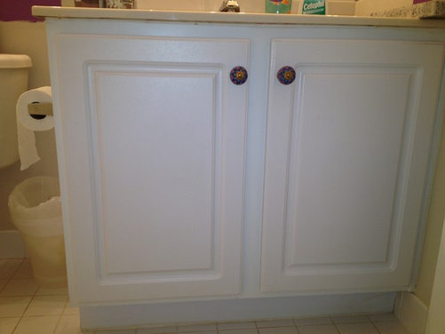 Can I paint a laminate bathroom vanity cabinet? If so, how?