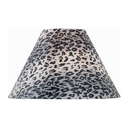 Lite Source - Leopard Printed Fabric Shade - 7Tx18Bx12Sl - Leopard Printed Fabric Shade - 7Tx18Bx12Sl