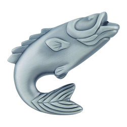 Atlas - Fish 2.25 in. Knob - 2204-NO (Set of 10) - Manufacturer SKU: 2204-NO. Projection: 1.25 in.. Made from metal. 2.25 in. L x 1.75 in. W