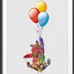 KidsPlayHome - Winnie The Pooh Wall Art - Playroom Art Print