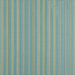 Turquoise And Green Stripe Upholstery Jacquard Fabric By The Yard - This multipurpose fabric is great for residential upholstery, slipcovers and pillows. This material is woven for enhanced elegance, and will exceed 35,000 double rubs (15,000 is considered heavy duty)