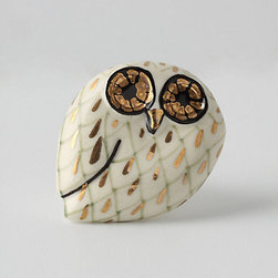 Calico Owl Knob - Whoooooooo can resist this charming owl knob? Perfect for adding a touch of whimsy to a refurbished desk, chest or door cabinets.