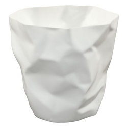 Modway - Lava Trash Bin, White - Lava was designed for those who appreciate the irony of a trash can, that is effectively throwing itself in the trash. While there's likely some quantum physics behind this, we prefer to think of Lava as a study in self-reference. As you crumple up those pieces of paper, you can be reminded that your receptacle has already beat you to it. More than just a conversation piece, Lava turns the once ordinary task of trash disposal, into something humorous and uplifting.