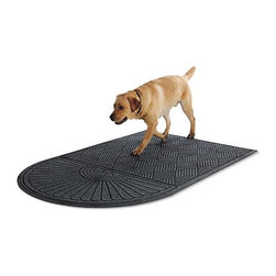 Frontgate - WATER & DIRT SHIELD ™ Crescent Runner - Made of durable polypropylene. Bacteria resistant. Raised texture scrapes off dirt and debris. Suitable for all floor types. 20% recycled rubber backing keeps runner firmly in place. Protect your entryway floors from gradual, consistent water exposure using our WATER & DIRT SHIELD ™ Crescent Runner. From muddy paws to snow-covered boots, this mat impressively absorbs over a gallon of water per square yard to drastically reduce water damage and chances of possible injury.  . .  . .  . For indoor or outdoor use. Cleans easily with a hose. Note: Do not place on wet floors. Made in America.