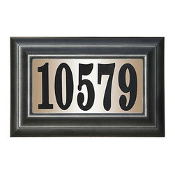 "Qualarc, Inc. - Edgewood Classic Lighted Address Plaque ""Do it yourself kit"", Black - The Edgewood Classic is designed to maximize your home's curb appeal, while keeping a lid on costs."