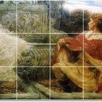 Picture-Tiles, LLC - Spirit Of The Fountain Tile Mural By Herbert James Draper - * MURAL SIZE: 18x36 inch tile mural using (18) 6x6 ceramic tiles-satin finish.