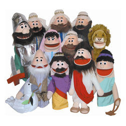 Get Ready Kids - Puppet Ministry Set - Features: -Set includes David, Jesus, Noah, Goliath, King, Dove, Lion, 2 Bible Rich Men and 2 Bible Poor Men puppet. -Great for those just starting out or looking to add to their existing ministry. -8 Bible based scripts: 3 Favorite Old Testament stories and 5 Parables of Jesus, CD with favorite Old Testament stories, and olive branch, armor and sling shot props. -Not for children under 3 years.