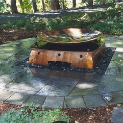 New House Arts - Fire Pit - Asian influenced  fire pit. 5' diameter bowl