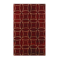 """Noble House - Elegant Burgundy/Gold Rug - Hand Tufted quality, in a premium and high end segment, produced with semi hard twist handspun yarn of best imported wool, similar to Ghazni. The tie dye dyeing technique provides a rustic and lustrous look to the modern and contemporary designs articulated with a thick body to justify value of the product. Features: -Depending on amount of traffic on rugs, professional cleaning or washing is required every 1 to 2 years..-Rugs should be vacuumed on regular basis to remove dust and dirt which would restore life to the fibers. Do not vacuum the fringes. Do not Vacuum Shaggy rugs as it will damage the rug. To clean the Shaggy rug, flip it over and shake well by hand..-To avoid spills setting deep and becoming stubborn, it is recommended to act immediately. When spills occur on rugs, put some water in the affected area to dilute, blot with clean white cloth or paper towel. Remove the moisture as much as possible by blotting with absorbent cloth or thick paper towel. Do not rub spills as could result in setting spills deeper in the affected area..-Handmade.-Do not expose rugs in direct sun light for longer time as it could result in faded colors of rugs..-Collection: Elegant.-Distressed: No.-Collection: Elegant.-Construction: Handmade.-Technique: Tufted.-Primary Color: Burgundy/Gold.-Type of Backing: Latex.-Material: Wool.-Fringe: No.-Reversible: No.-Rug Pad Needed: No.-Water Repellent: No.-Mildew Resistant: No.-Stain Resistant: No.-Fade Resistant: No.-Eco-Friendly: No.-Recycled Content: No.-Outdoor Use: No.-Product Care: In case of liquid, blot clean with undyed cloth by pressing firmly around the spill to absorb as much as possible..Specifications: -CRI certified: No.-Goodweave certified: No.Dimensions: -Pile Height: 0.75"""".-Overall Product Weight (Rug Size: 3'6"""" x 5'6""""): 25 lbs.-Overall Product Weight (Rug Size: 5' x 8'): 45 lbs.-Overall Product Weight (Rug Size: 8' x 11'): 75 lbs.-Overall Product Weight (Rug Size: Runner 2'3"""" """