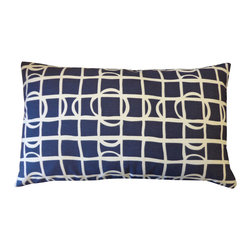 Jiti - Planet Navy Pillow - Jazz up your home decor with our Planet Navy Pillow!  Made from 100% Cotton. Invisible Zipper. DRY CLEAN ONLY. Insert is made of 95% feathers and 5% down