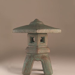 Pagoda, Small - This wonderful Pagoda, Small will definitely add an asian flair to your garden or yard. A single tiered pagoda-style lantern sits atop a durable base bringing an element of peace and tranquility to your home.