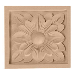 """Ekena Millwork - 3""""W x 3""""H x 5/8""""D Small Dogwood Flower Rosette, Cherry - 3""""W x 3""""H x 5/8""""D Small Dogwood Flower Rosette, Cherry. Our rosettes are the perfect accent pieces to cabinetry, furniture, fireplace mantels, ceilings, and more. Each pattern is carefully crafted after traditional and historical designs. Each piece comes factory primed and ready for your paint. They can install simply with traditional adhesives and finishing nails."""